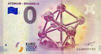 BILLET 0  EURO  ATOMIUM BRUSSELS BELGIQUE  2018  NUMERO 100