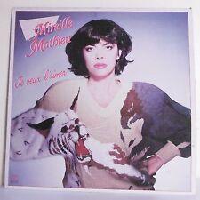 """33T Mireille MATHIEU Disque Vinyle LP 12"""" JE VEUX L'AIMER - ARIOLA 205705 RARE"""