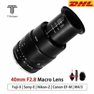 TTartisans 40mm F2.8 Macro Close Up Lens For Sony E EOS-M M4/3 Nikon Z Fuji X