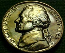 1963 Jefferson GEM PROOF 5 Cents 5c ~BEAUTIFUL BLUE TONED NICKEL~   22GA
