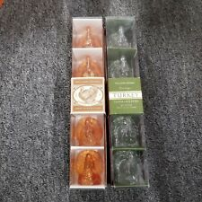 Williams - Sonoma Amber / Clear Turkey Taper Holders 4 Per Package NEW