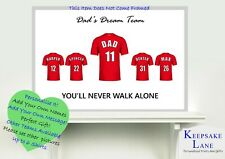 Personalised Liverpool ⚽ Football Home Shirt Print Gift Kit Picture Anfield EPL