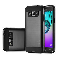 Case Cover Skin Silicone Gel TPU + PC Slim For Samsung Galaxy J3 (2016) Black