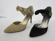 Patternless Court Spot On Textile Heels for Women