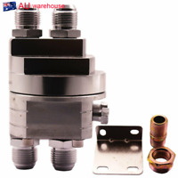 Universal Aluminum M20X1.5 3/4X16 UNF Thread Oil Filter Adapter Plate Kit Silver