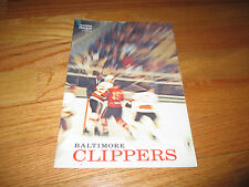 1967-68 American Hockey League AHL BALTIMORE CLIPPERS vs PROVIDENCE REDS Program