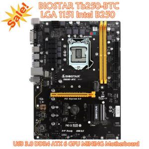 Biostar TB250-BTC LGA 1151 Intel B250 Motherboard DDR4 ATX 6 GPU MINING USB 3.0