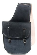 Black Dyed Split Leather Western Saddle Bags Made in USA HorseTack