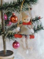 VINTAGE adorable Pixie Elf Elves TREE SWING Christmas