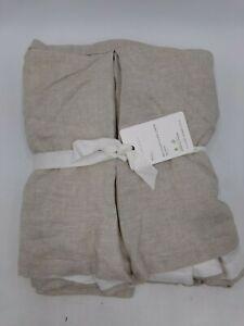 """Pottery Barn Belgian Flax Linen Bedskirt Full 14"""" Drop Natural Beige #7374"""