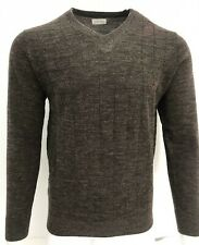 Mens Cable Check V Neck Knit Pullover Jumper Top Winter Sweater S-2XL from £6.95