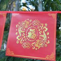 CHINESE LUCKY FISH NEW YEAR BUNTING GARLAND HANGING PARTY DECORATION BANNER