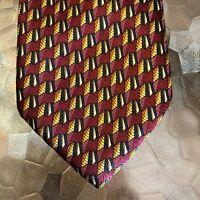 Barneys New York 100% Silk Geo Print Necktie Tie Men's