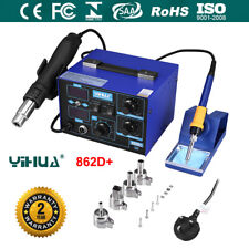 2 in 1 YIHUA 862D+ 230V Rework Soldering Station Hot Air Gun Welder Desoldering