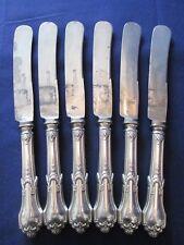 SET 6 DINNER KNIVES! Vintage AC FRANCKE .800 SILVER: German made: LOVELY