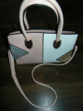 Moda Handbag Shoulder Bag Soft Pastels Leather Colour Block Medium