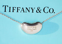 Tiffany & Co Elsa Peretti 18mm Bean Sterling Silver Pendant Necklace