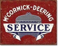 McCormick-Deering Service Tin Sign Tractor Farm Equipment Wall Decor Poster Ad