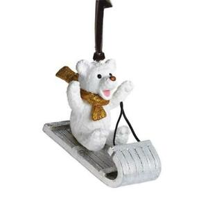 NEW Michael Aram Christmas Ornament Sledding Teddy Santa Horse Mistletoe Snowman