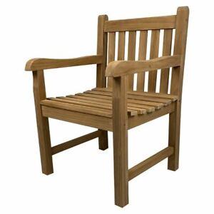 Solid Teak Wood Arm Chair Outdoor Furniture Seat Garden REDUCED!!