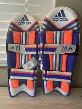 New Youth's adidas Cricket Leg Guards Elite Wk Pads Wicket Keeping Pads A97765