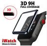 Vitre film protection verre trempé 3D total pour Apple watch 4 38/40/42/44mm