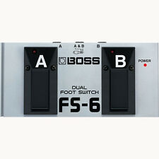 Boss FS-6 Dual Footswitch Boss FS6 Combines Latch and Momentary-Type Switching