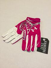 Under Armour UA NFL BCA Pink Football Receivers Gloves Size 4XL* New w/o Tag