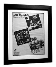 DRONES+Bone Idol+Myself+POSTER+AD+ORIGINAL 1977+PUNK+FRAMED+EXPRESS GLOBAL SHIP