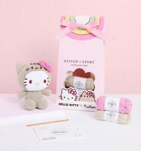 Official Hello Kitty x Pusheen Kitty Amigurumi Crochet Kit from Stitch & Story