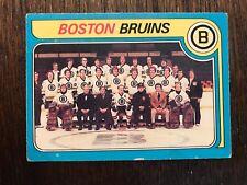 1979-80 OPC Boston Bruins team card nice card