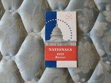 1937 WASHINGTON NATIONALS MEDIA GUIDE ROSTER Yearbook Program SENATORS Book AD