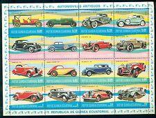 EQUATORIAL GUINEA*1977* M/Sheet (16 stamps)*MNH** Classic Cars-Mi.No 1095-1110KB