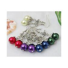Wholesale Lot 15 Mixed Celtic Cross Tibetan Silver & Glass Pearl Bead Earrings