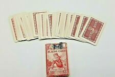 Vintage PETER PAN MINIATURE Red playing CARDS original box with Tax Stamp