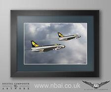 Framed 111 Squadron F.3 Lightning RAF Wattisham Digital Art Print