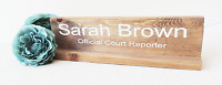 office desk plaque, name sign for work, gift for boss, wooden name sign, persona