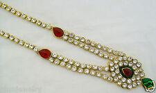 Indian Saree Waist Belt Belly Hip Chain Kamar Bandh Kundan Bridal Women Jewelry