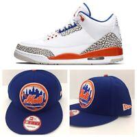 "Perfect Matching New York Mets Snapback For Air Jordan 3 "" knicks """