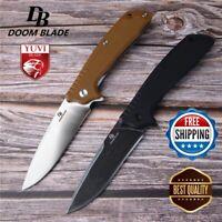 "8"" Folding Knife FH11 Hunting  Knives Ball Bearing D2 Blade G10 Handle Camping"