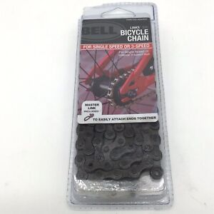 """BELL LINKS 300 Bicycle Chain for Single or 3-Speed 1/2"""" X 1/8"""" Master Link Incl"""