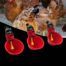 Chicken Drinking Cups Quail Water Bowls Bird Plastic Animal Cage Feeder 1pcs