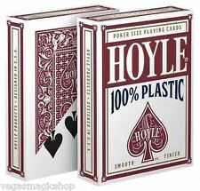 Hoyle 100% Plastic Red Deck Playing Cards Poker Size USPCC Smooth Finish Sealed