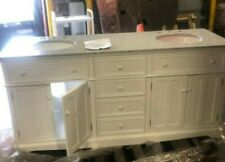 Fremont Double Bathroom Vanity with Granite Top that is Assembled!