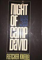 Fletcher Knebel NIGHT OF CAMP DAVID First Edition-1965 H/C D/J