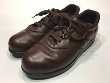 SAS Free Time Brown Leather Orthopedic Shoes Womens Size 7.5 M