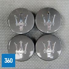 4 x NUOVO ORIGINALE ORIGINALE MASERATI GLOSS GRIGIO TAPPI CENTRO RUOTA HUB 82330903