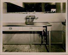 Ga16 Original Photo Vintage Office Equipment Burroughs Typewriter Classic Phone