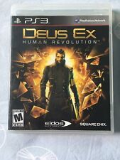 DEUS EX HUMAN REVOLUTION PS3 PLAYSTATION 3 SONY VIDEO GAME COMPLETE EXCELLENT