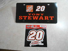 (New In Package) Tony Stewart #20 2007 Home Depot (Plate & Decal) - Collectors